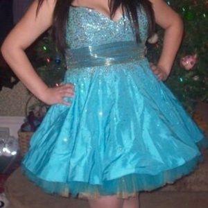 Jovani Mini Princess Prom Dress Size 16